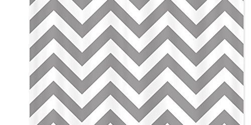 Awesome Coral Chevron Bathroom Shower Curtains